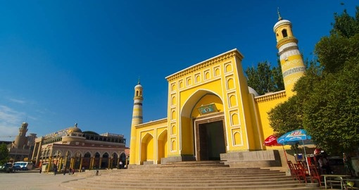Visit Id Kah Mosque in unexplored Kashgar on your trip to China