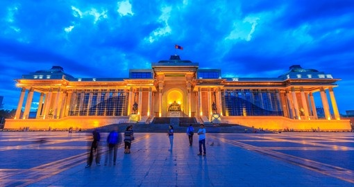 The Mausoleum of Sukhbaatar