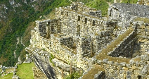 Remaining buildings of Machu Picchu