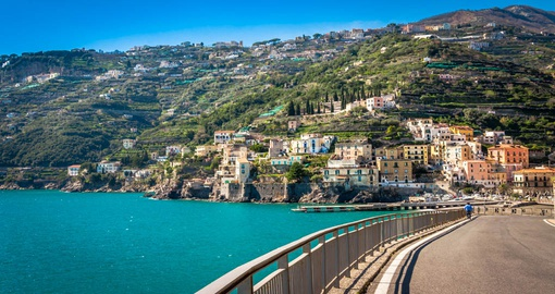 Enjoy the beautiful views on the road to Positano during your Italy tour