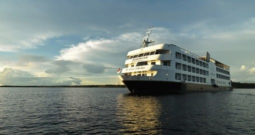 Enjoy a cruise on the luxurious Iberostar on your trip to Brazil