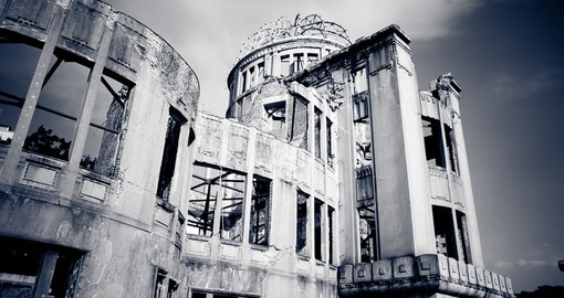 The A-Bomb Dome is one of the most photographed structures on our Japan tours.