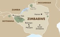 Zimbabwe Country Map