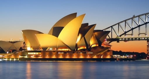 Sydney's most famous icon, the Opera House, and a highlight on all Australia vacations.