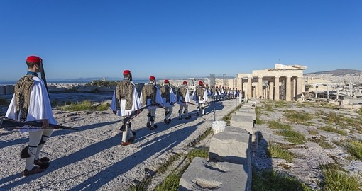 Presidential guards at the Athenian Acropolis