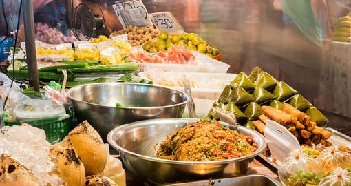 Street foods in Kad Luang Night Market in Chiang Mai