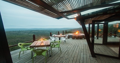 Enjoy your evenings around the fire pit sharing your experience on your next South Africa tours.