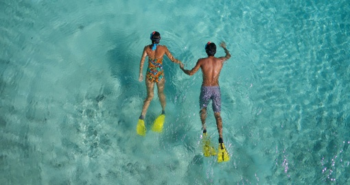 Experience Thalasso Snorkeling and enjoy magical world of under water on your next trip to Tahiti.