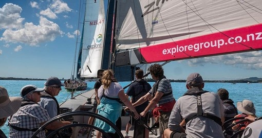 Enjoy a friendly match race on Auckland harbour as part of your New Zealand Vaction