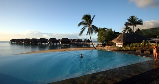 Have swim and get more relaxed after beautiful day during your next Tahiti tours.