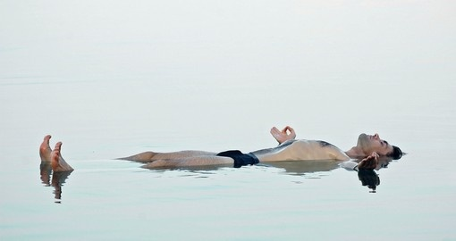 Floating in the glassy waters of the Dead Sea is always a popular activity on all Dead Sea tours.