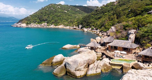 Six Senses Ninh Van Bay has commanding views of the East Vietnam Sea