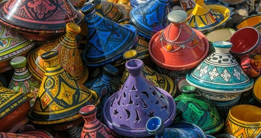 Tajines in the market