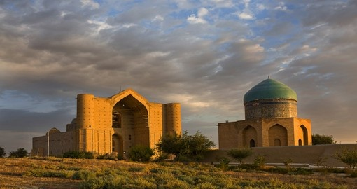 The Khoja Ahmed Yasawi Mausoleum is a must see attraction when you're on your Kazakhstan Vacation