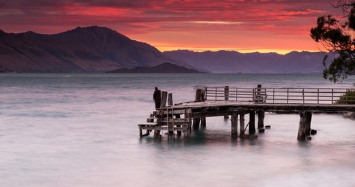 Enjoy beautiful sunsets while in Queenstown