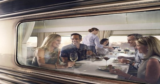 Enjoy all the amenities the Ghan train can offer on your next Australia vacations.
