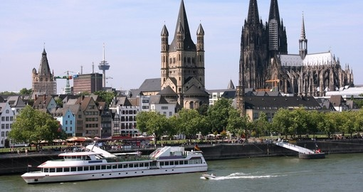 The Rhine flowing through Cologne