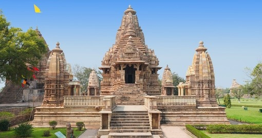The Khajuraho Group of Monuments are a group of Hindu temples in Madhya Pradesh, India