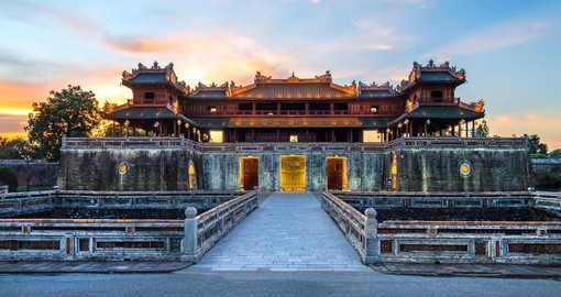 The Imperial City of Hue is a former capital of Vietnam