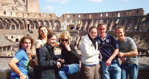 Having fun at Rome's colosseum