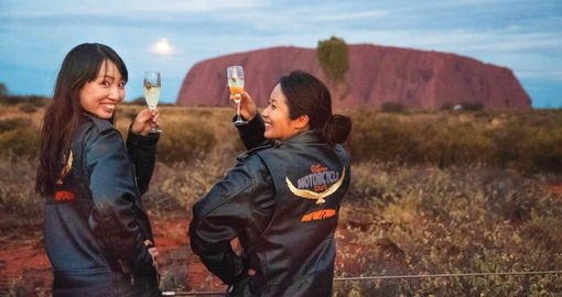 Experience the excitement of an Uluru Sunset Harley Motorcycle Tour on your Australia Vacation