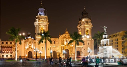 Your Peru vacation begins in Lima and the beautiful Plaza Mayor