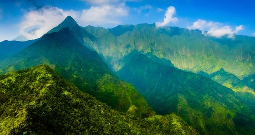 Your Hawaii vacation includes a trip to Waimea Canyon State Park on the Island of Kauai