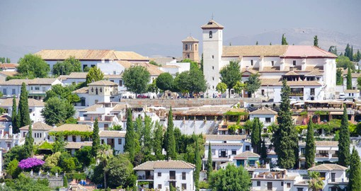 Granada, at the foot of the Sierra Nevada, was the last stronghold of the Spanish Moors