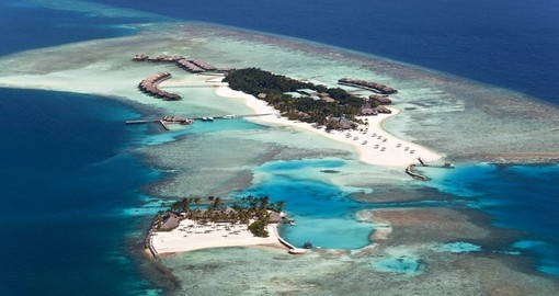 Aerial view of Veligandu Island