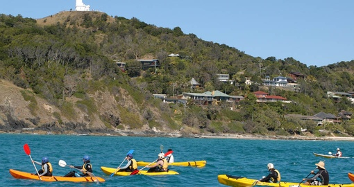 Enjoy paddling off Cape Byron on your Australia Vacation