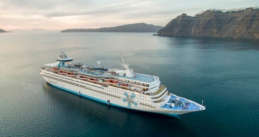 Enjoy all the amenities of the cruise ship on your next trip to Greece.