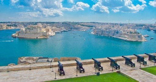 The Saluting Battery of La Valletta