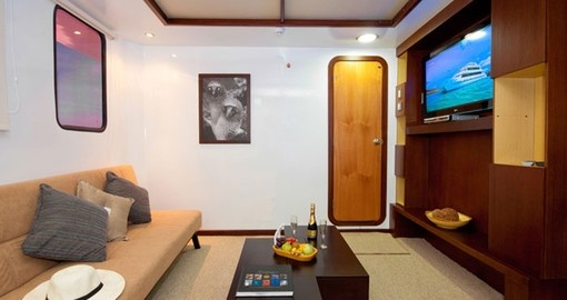 Relax in your suite on your Ecuador Vacation
