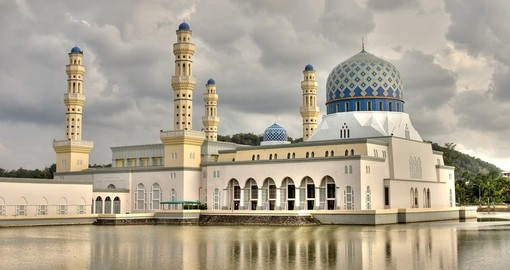 Kota Kinabalu's city mosque - a very popular spot to take photos while on one of our Malaysia tours.