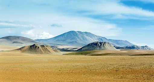 Highland desert plateau in Altiplano