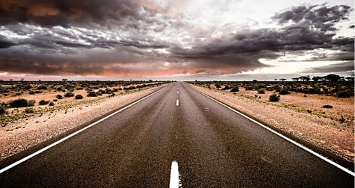 The Australia Outback claims the worlds long straight stetch of road