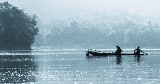A still lake in Laos