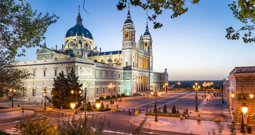La Almudena Cathedral and the Royal Palace in Madrid