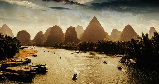 Explore sunset in Guilin on your trip to China.