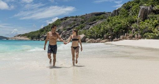 The Seychelles is a perfect place for a honeymoon or romanctic escape