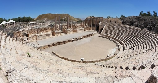 Magnificently preserved Roman amphitheater in Beit Shean