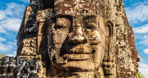 face of Bayon castle in Angkor Thom