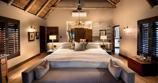 Sleep in comfort at the &Beyond Ngala Safari Lodge during your South Africa vacation.