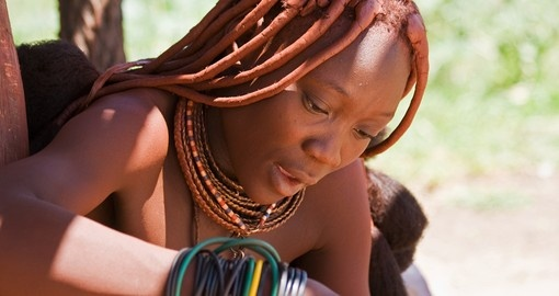 'Red' Himba woman of Northern Namibia
