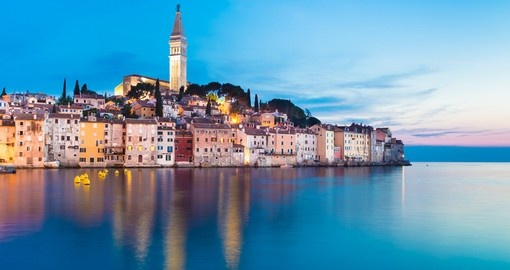 Rovinj is a popular tourist resort and an active fishing port