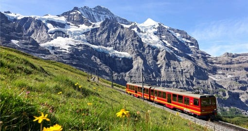 The Jungfrau at 4,158 metres is one of the main summits of the Bernese Alps