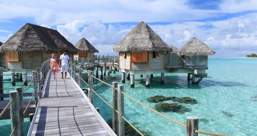 Overwater bungalows are the perfect accommodation choice