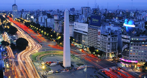 Visit the vibrant city of Buenos Aires during your Trips to Argentina.