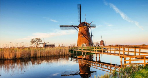 See Traditional Windmills near Rotterdam on your European Tour