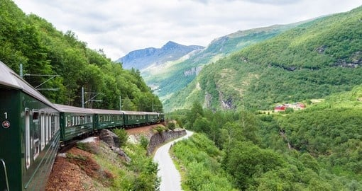 You will travel through the Flam Railway during your journey in Norway